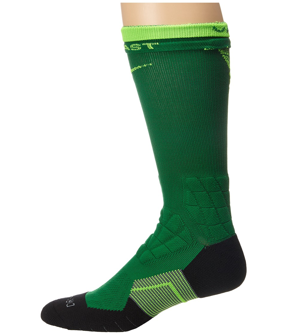 Nike Nike 2.0 Elite Vapor Crew Fade Football Pine Green/Pine Green/Electric Green Crew Cut Socks Shoes