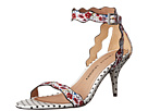 Chinese Laundry - Rubie Scalloped Sandal (Red/White Floral Print)