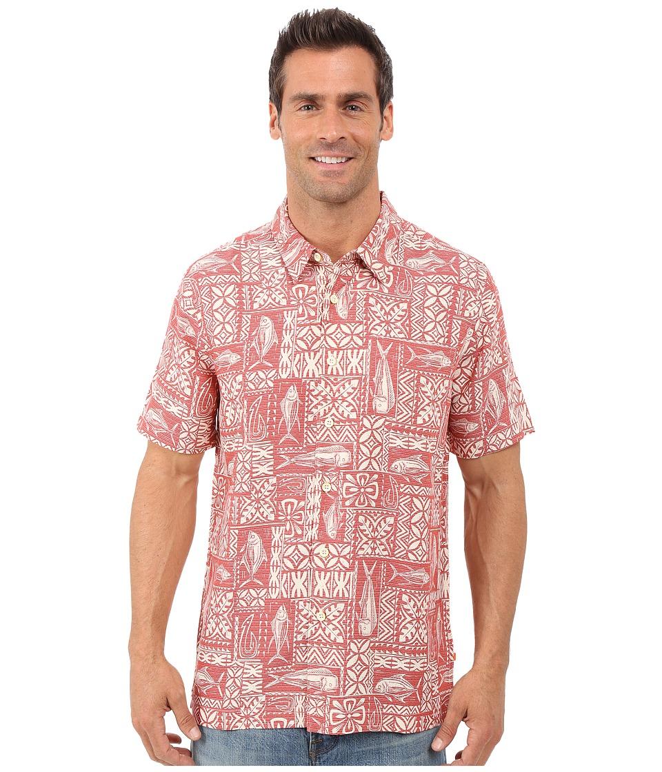 Quiksilver Waterman Sage Advice Shirt Red Tea Mens Clothing