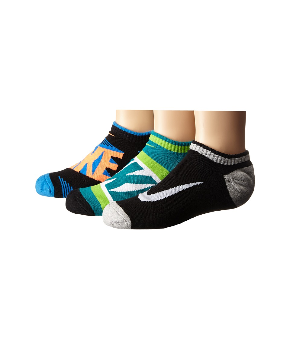 Nike Kids Graphic Cotton Cushion Low Cut 3 Pair Pack Toddler/Little Kid/Big Kid Multicolor 2 Boys Shoes