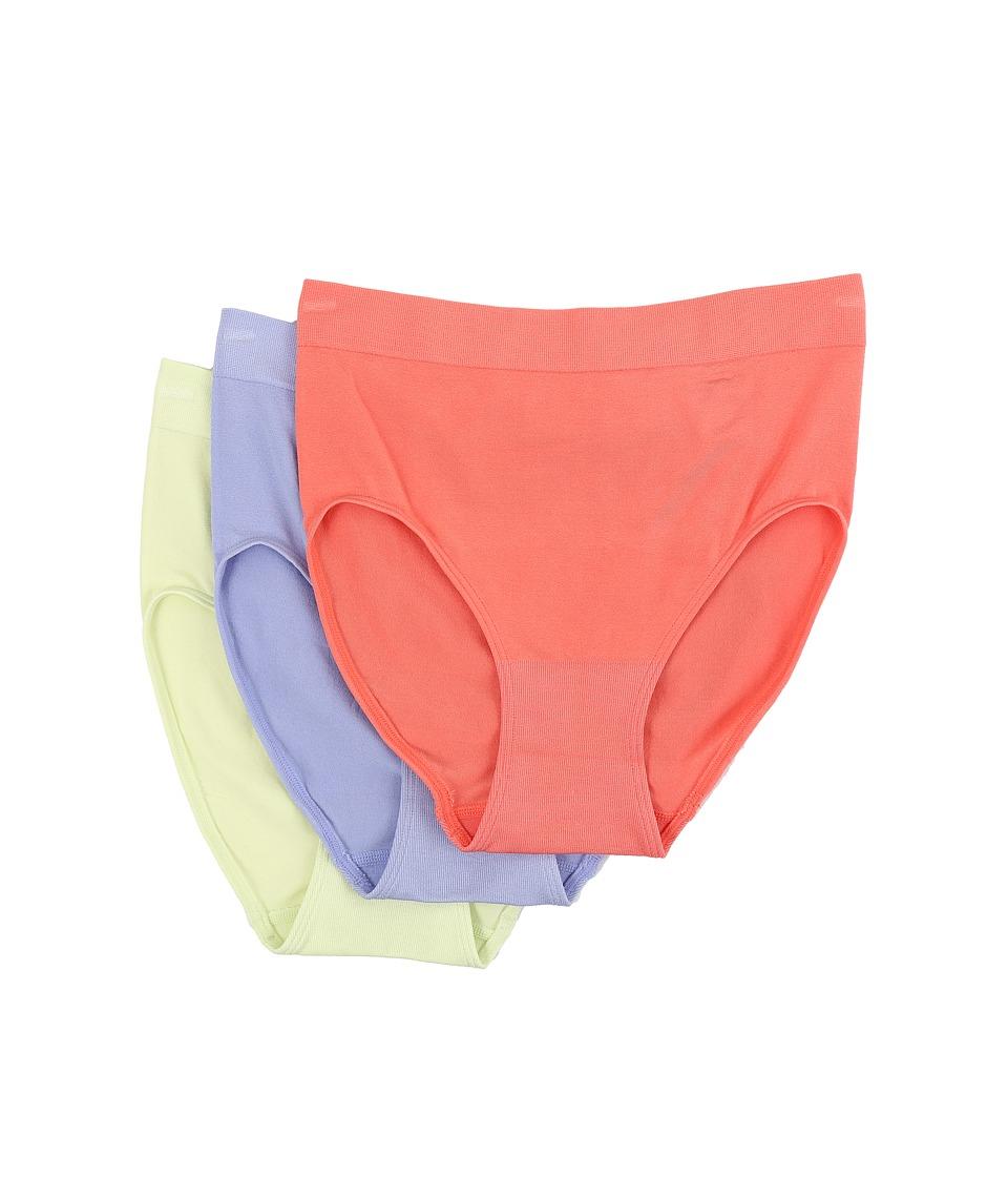 Wacoal B Smooth Hi Cut Brief Porcelain Rose/Very Violet/White Jade Womens Underwear