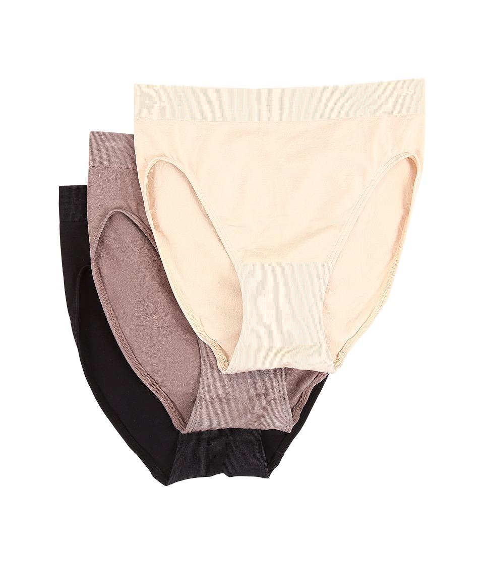 Wacoal B Smooth Hi Cut Brief Natural Nude/Cappuccino/Black Womens Underwear