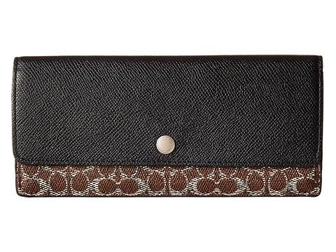 coach gray wallet  coach signature soft