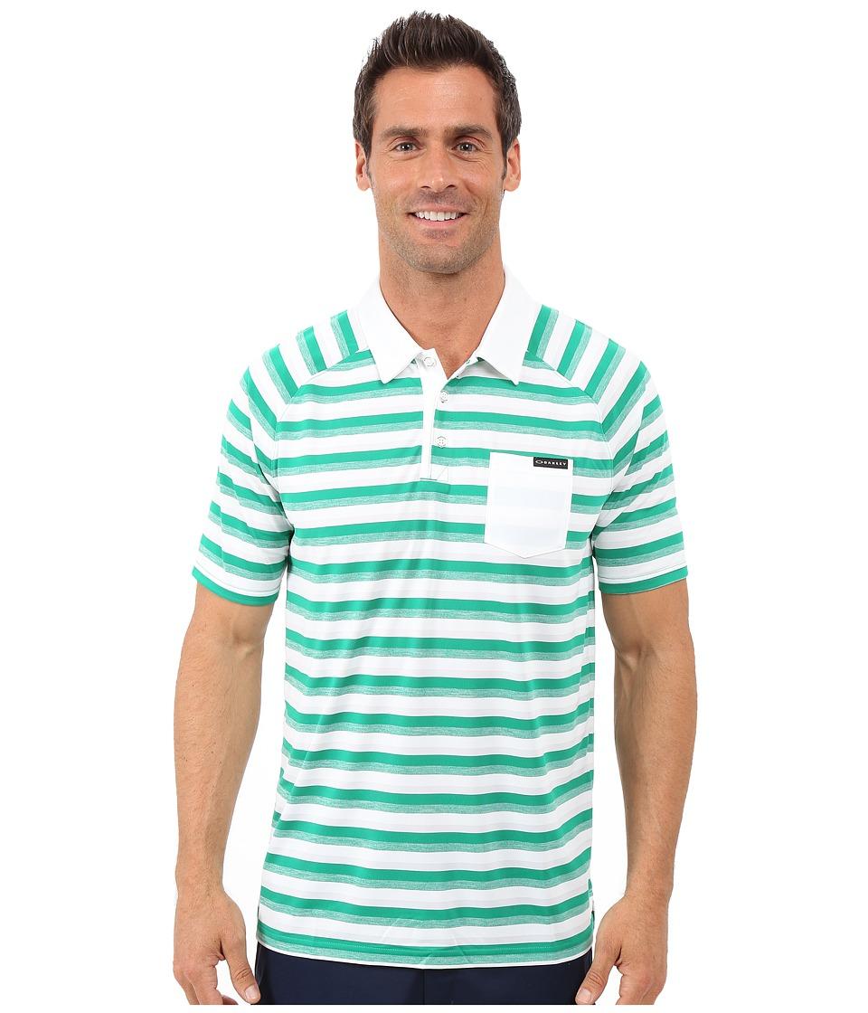 Oakley Ace Stripe Polo Parakeet Mens Short Sleeve Pullover