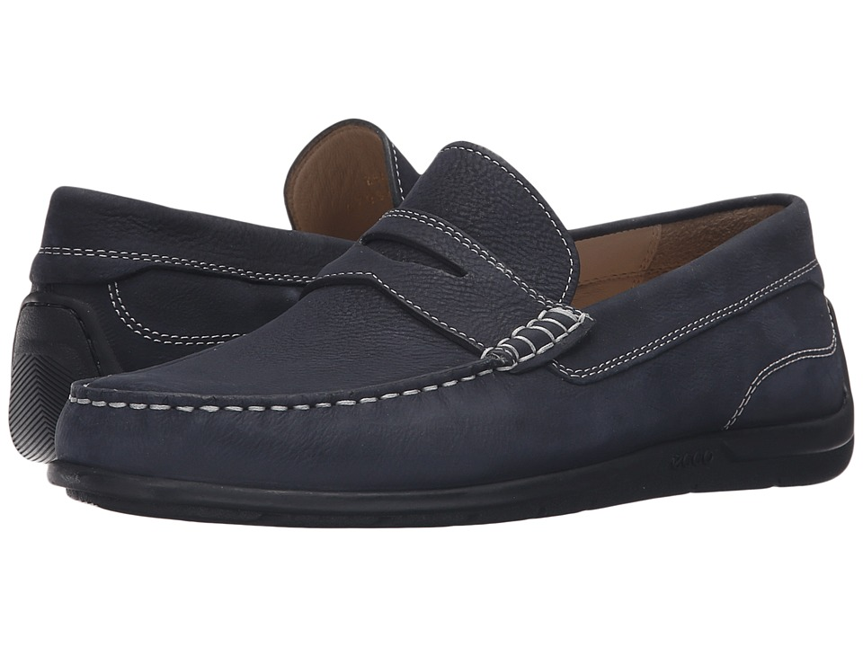 ECCO - Classic Moc 2.0 Loafer (Navy) Men