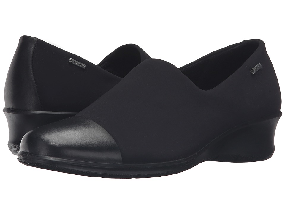 ECCO - Felicia GTX Slip-On (Black/Black) Women's Slip on  Shoes