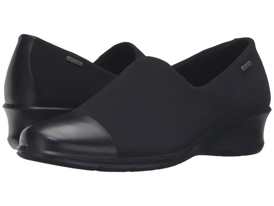 ECCO - Felicia GTX Slip-On (Black/Black) Women