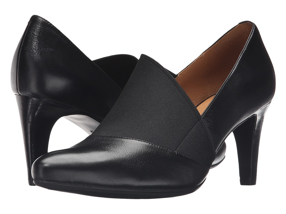 ECCO Alicante 75mm Pump Black/Black High Heels