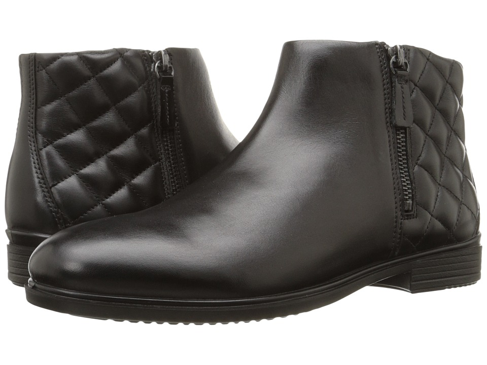 ECCO - Touch 15 Quilted Bootie (Black/Black) Women
