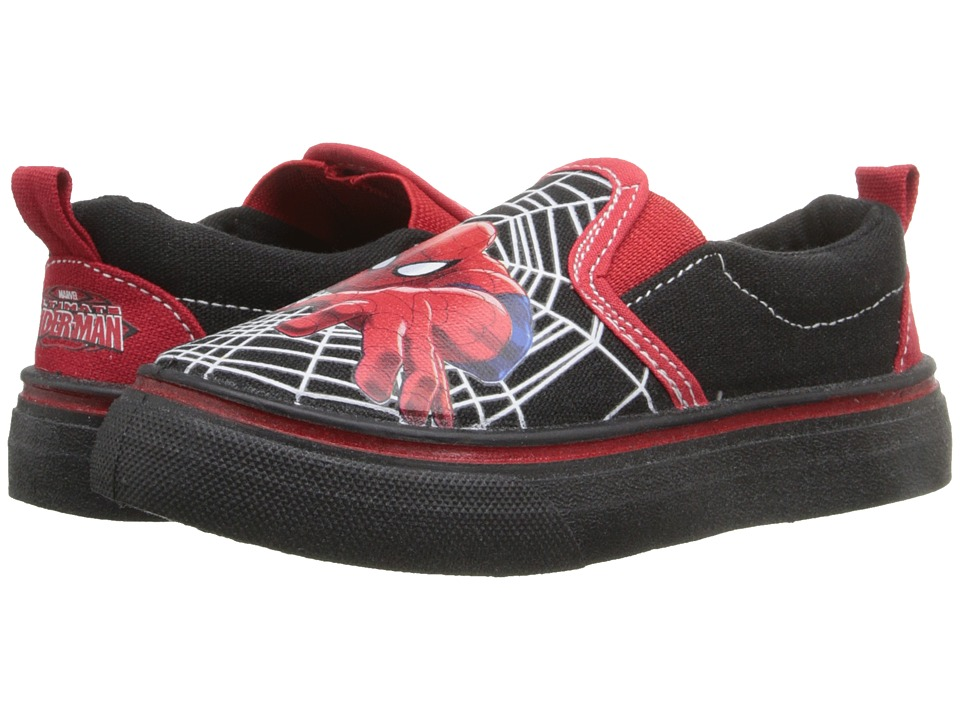 Favorite Characters Spider Man Canvas Slip On Toddler/Little Kid Red/Black Boys Shoes