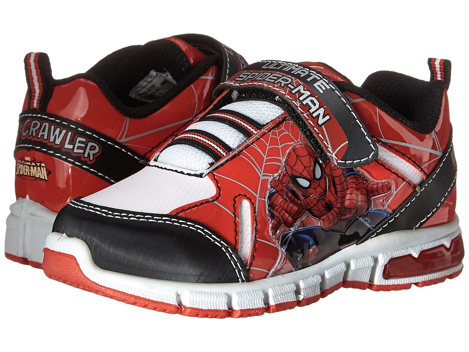 Favorite Characters Spider Man Sneaker Lighted Toddler/Little Kid Red/Black/White Boys Shoes