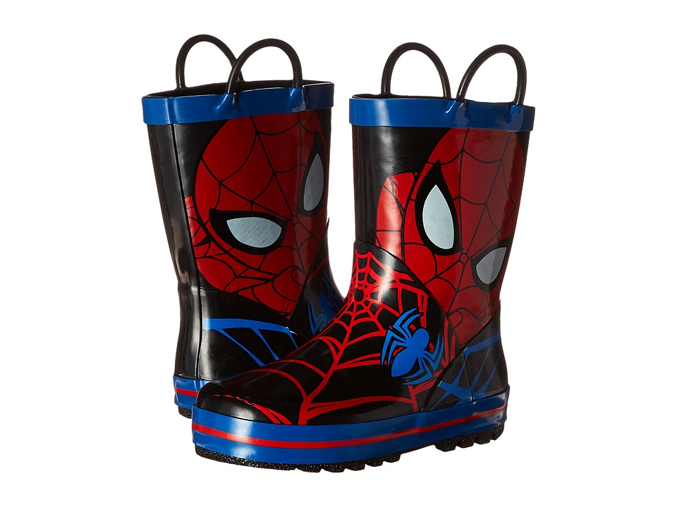 Favorite Characters - Spider-Man Rain Boot (Toddler/Little Kid) (Red/Black/Royal) Boys Shoes