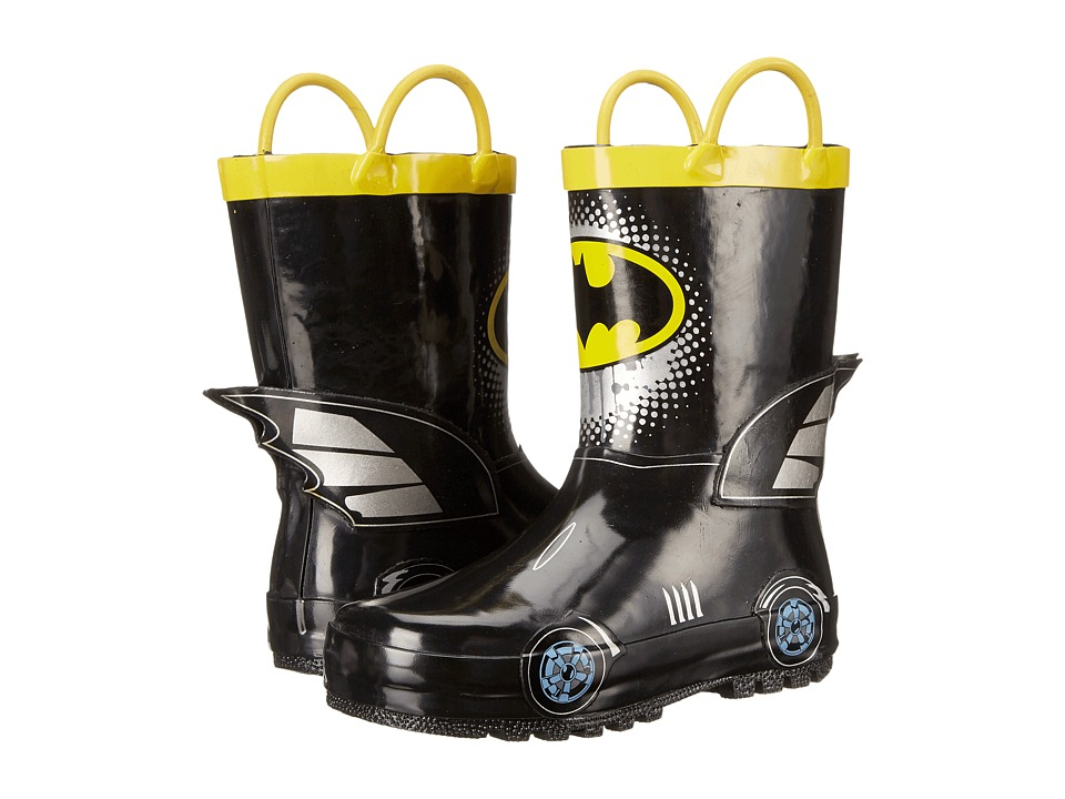 Favorite Characters Batman Rain Boot Toddler/Little Kid Black/Yellow/Gray Boys Shoes