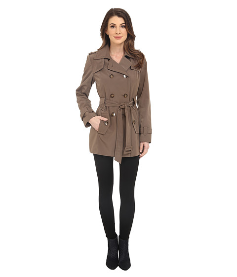 Calvin Klein Double Breasted Belted Trench w/ Gunflaps