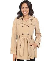 Calvin Klein - Double Breasted Belted Trench w/ Gunflaps
