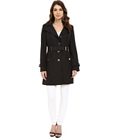 Calvin Klein - Single Breasted Hooded Belted Trench w/ Printed Liner