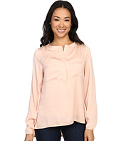 Bobeau - Ora Two-Pocket Woven Blouse