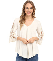 Bobeau - Lara Crochet Sleeve Top