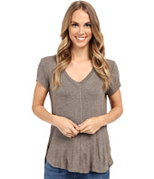 Bobeau - Adley V-Neck High-Low T-Shirt