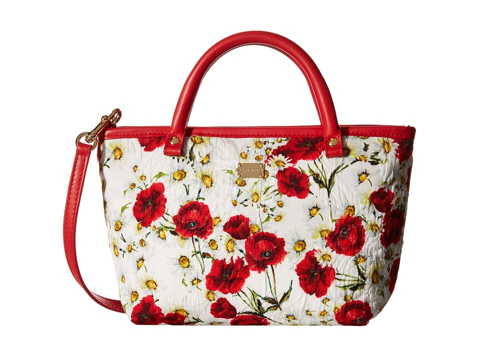 Dolce amp Gabbana Kids Broccade Shopper Little Kids/Big Kids Rose Print Handbags