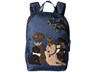 Dolce & Gabbana Kids Nylon Familia Backpack (Little Kids/Big Kids) (Blue)