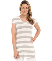 B Collection by Bobeau - Jamie Stripe Tunic w/ Side Slit