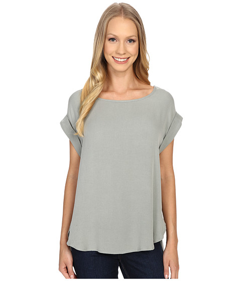B Collection by Bobeau Brea Roll Sleeve Top
