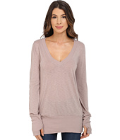 LAmade - Long-Sleeve Wide V-Neck Top