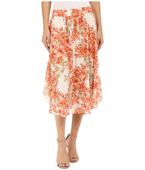 B Collection by Bobeau Daphne Floral Print Skirt