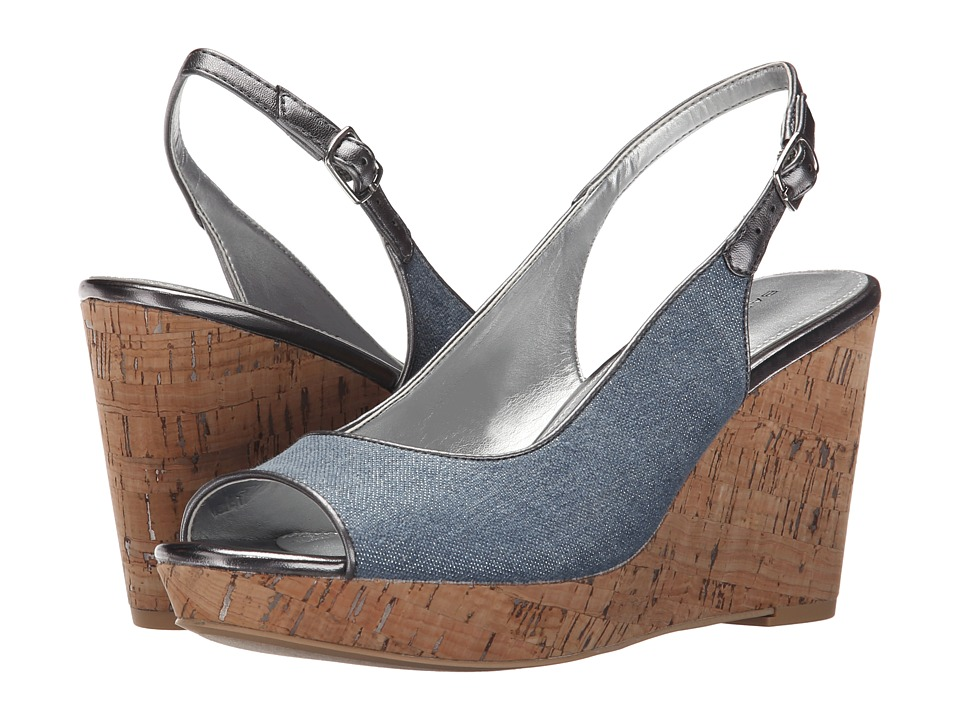 Bandolino Avito Dark Blue/Pewter Fabric Womens Shoes
