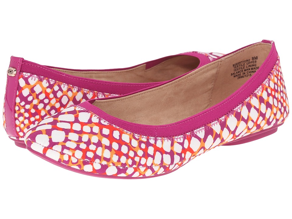 Bandolino Edition Purple Multi Fabric Womens Flat Shoes