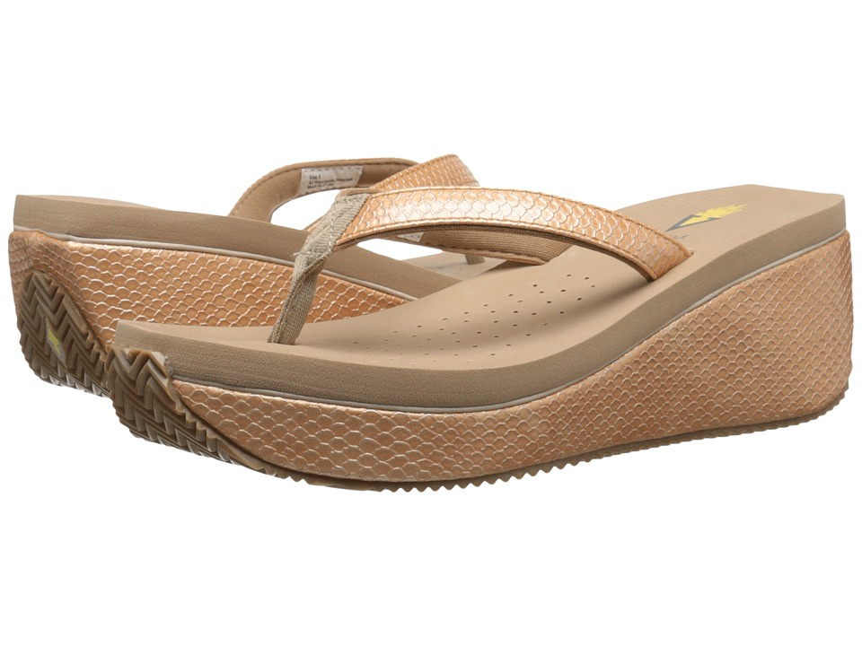 VOLATILE Digs Tan Womens Wedge Shoes