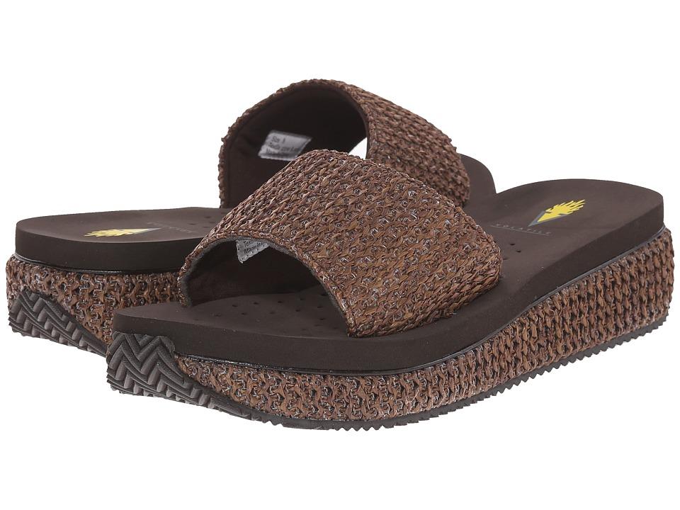 VOLATILE Danni Brown Womens Slide Shoes