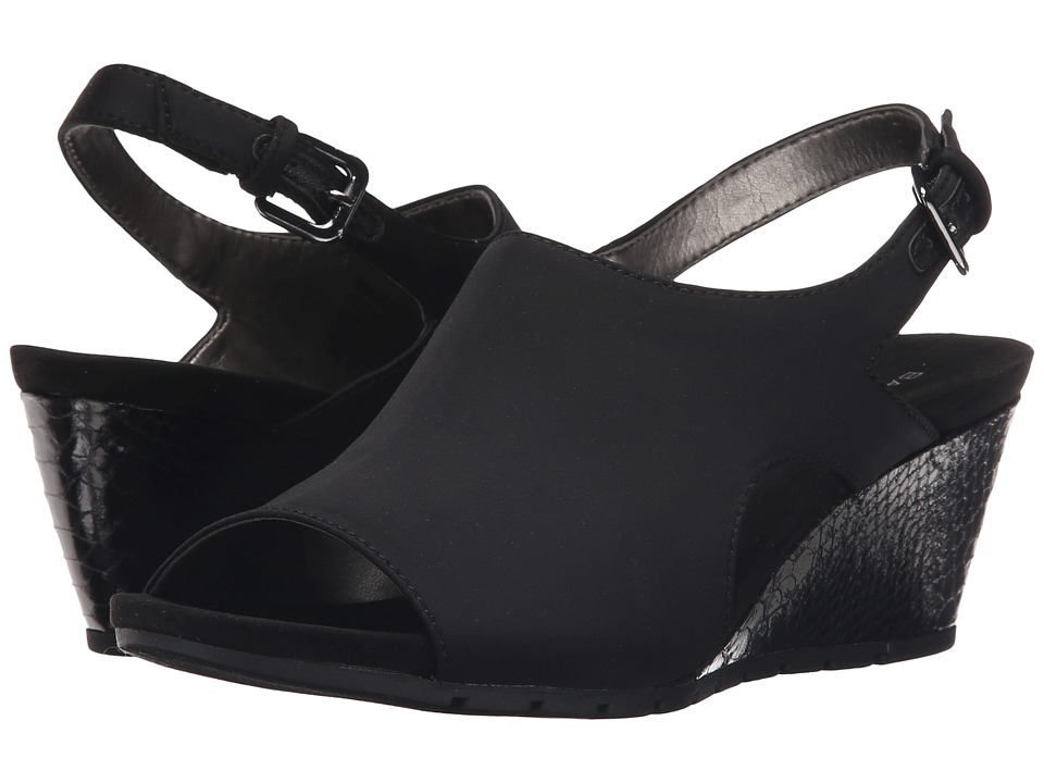Bandolino Galatee Black Fabric Womens Shoes