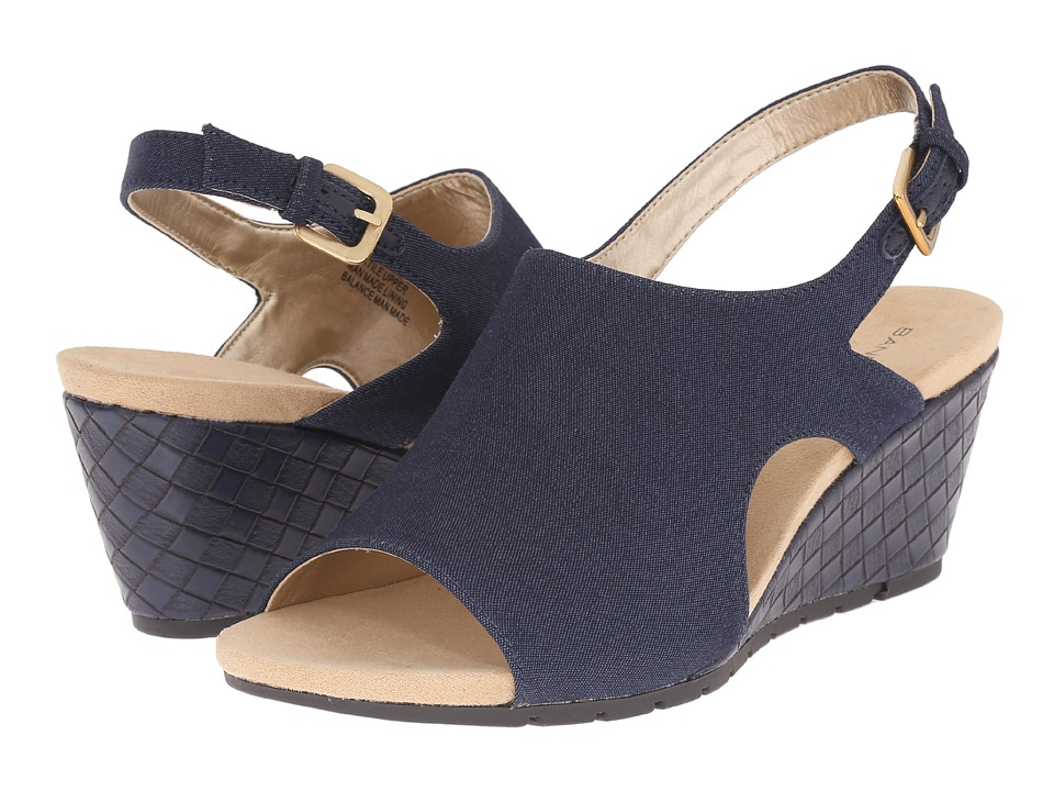 Bandolino Galatee Navy Fabric Womens Shoes
