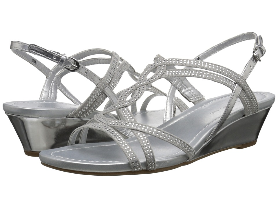 Bandolino Gilnora Silver/Silver Fabric Womens Shoes