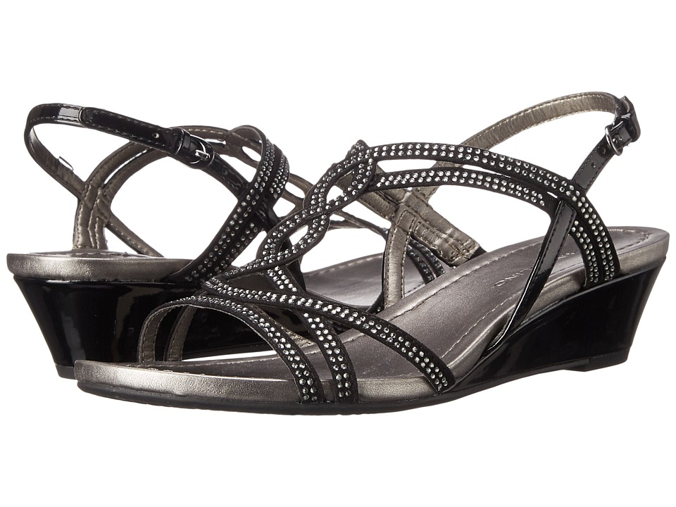 Bandolino Gilnora Black/Black Fabric Womens Shoes
