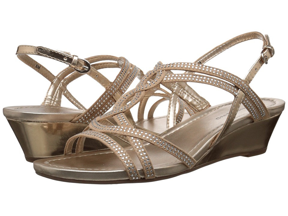 Bandolino Gilnora Light Gold/Light Gold Fabric Womens Shoes