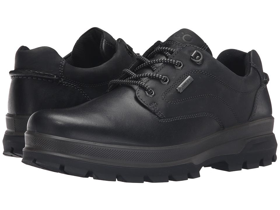 ECCO Sport - Rugged Track GTX Tie (Black/Black) Mens Walking Shoes