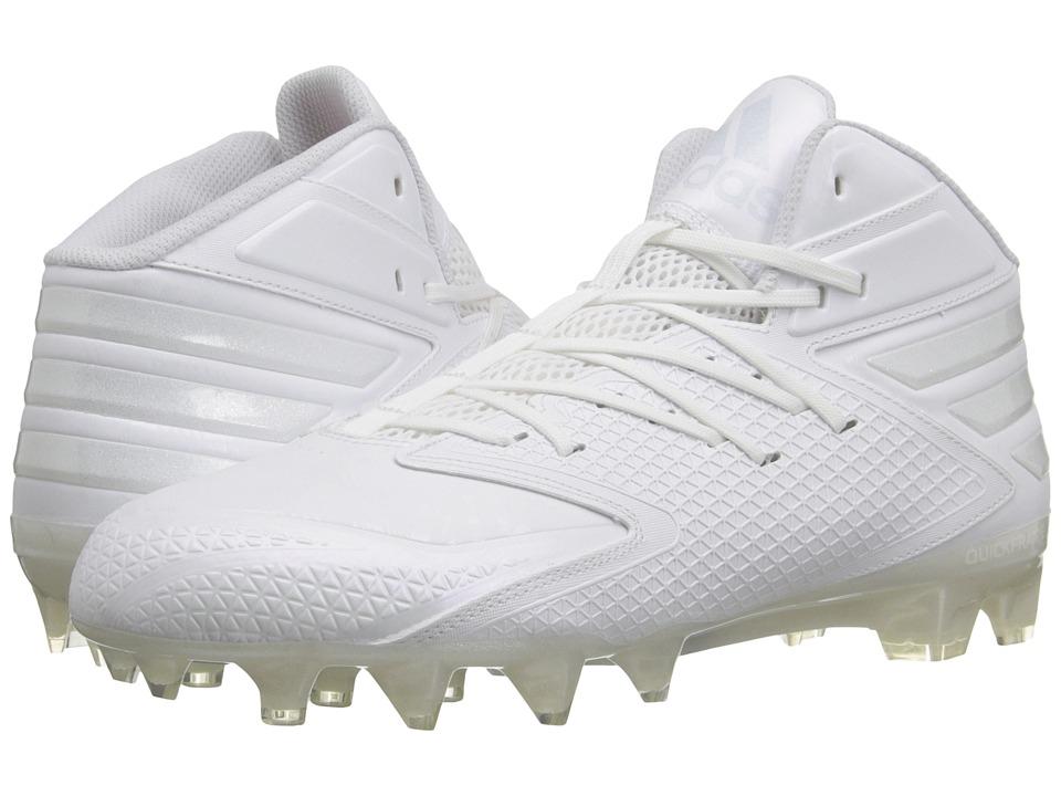 adidas - freak X CARBON Mid Football (White/White/White) Men