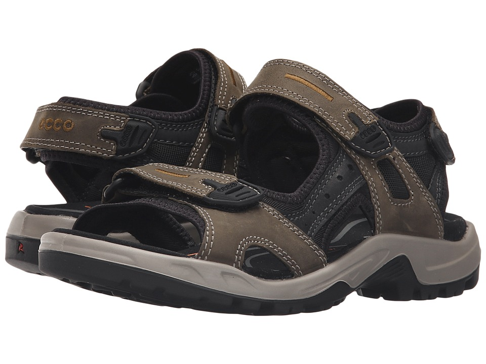 ECCO Sport Yucatan Sandal Tarmac/Black/Black Mens Toe Open Shoes