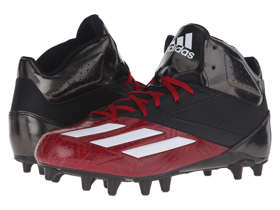 adidas 5-Star Mid Football (Black/White/Power Red) Men