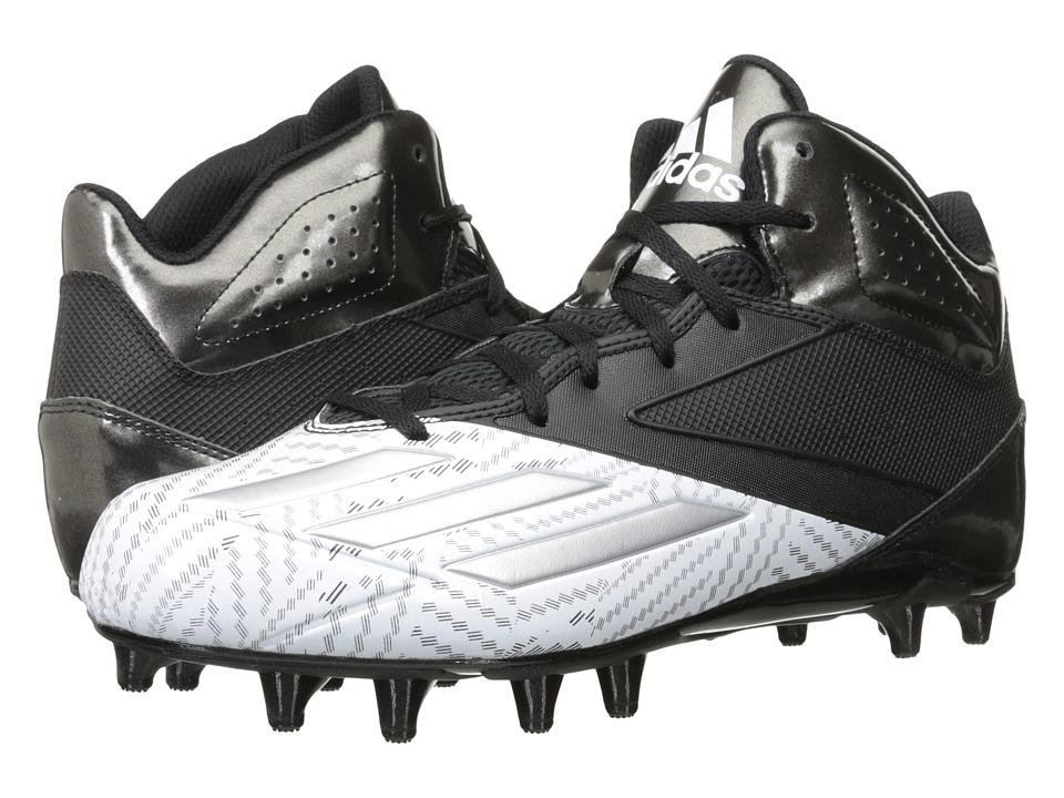adidas 5-Star Mid Football (Black/Platinum/White) Men