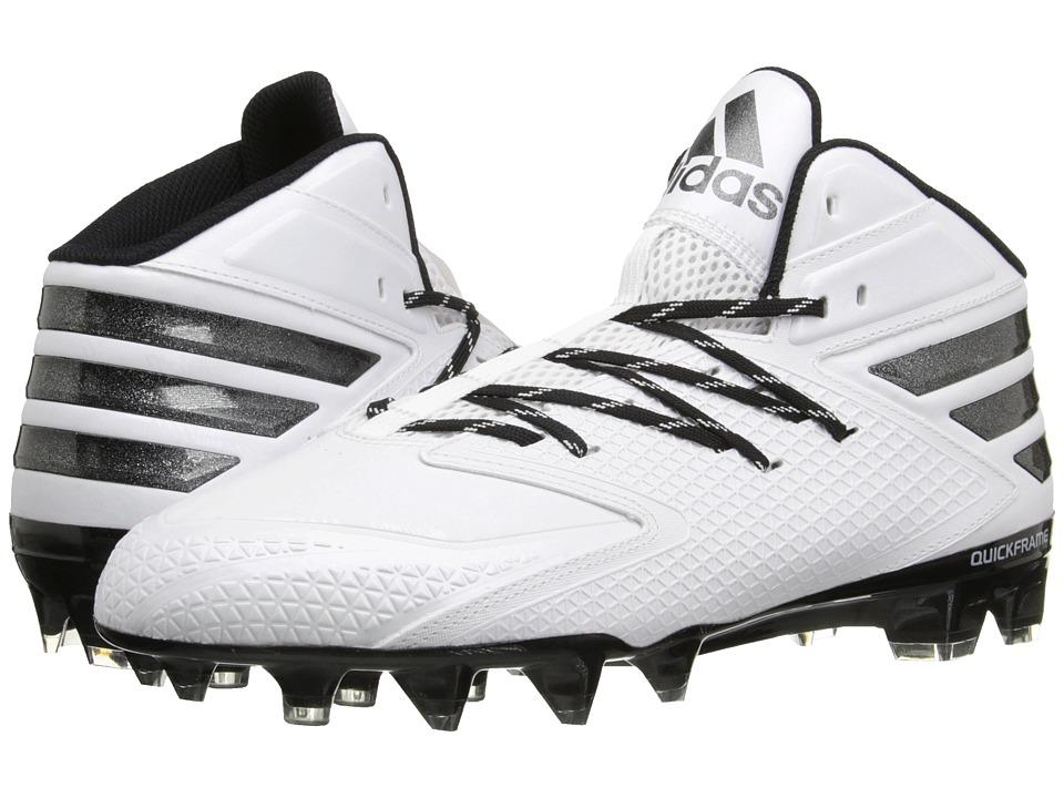 adidas - freak X CARBON Mid Football (White/Black) Men