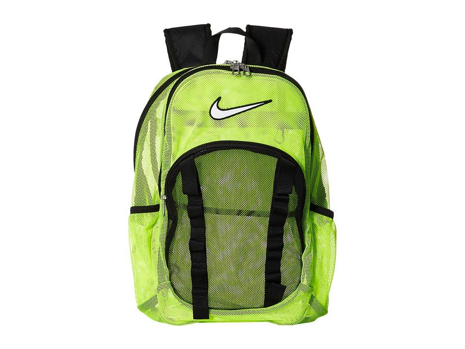 Nike - Brasilia 7 Backpack Mesh Large (Volt/Black/(White)) Backpack Bags