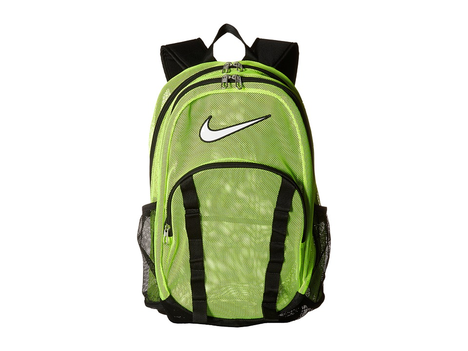 Nike - Brasilia 7 Backpack Mesh XL (Volt/Black/(White)) Backpack Bags