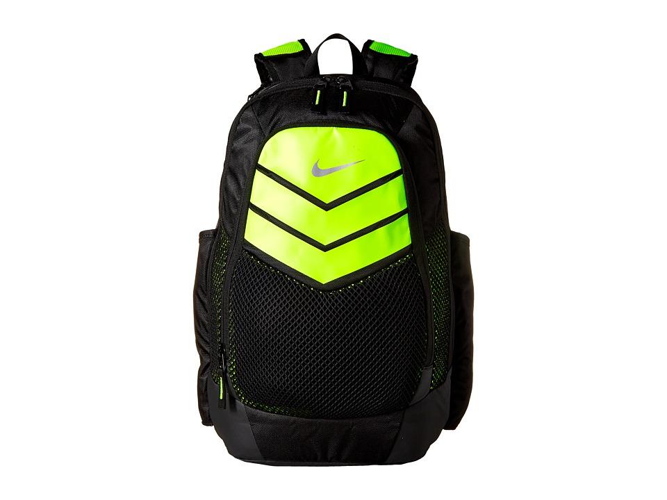 Nike - Vapor Power Backpack (Black/Volt/Metallic Silver) Backpack Bags