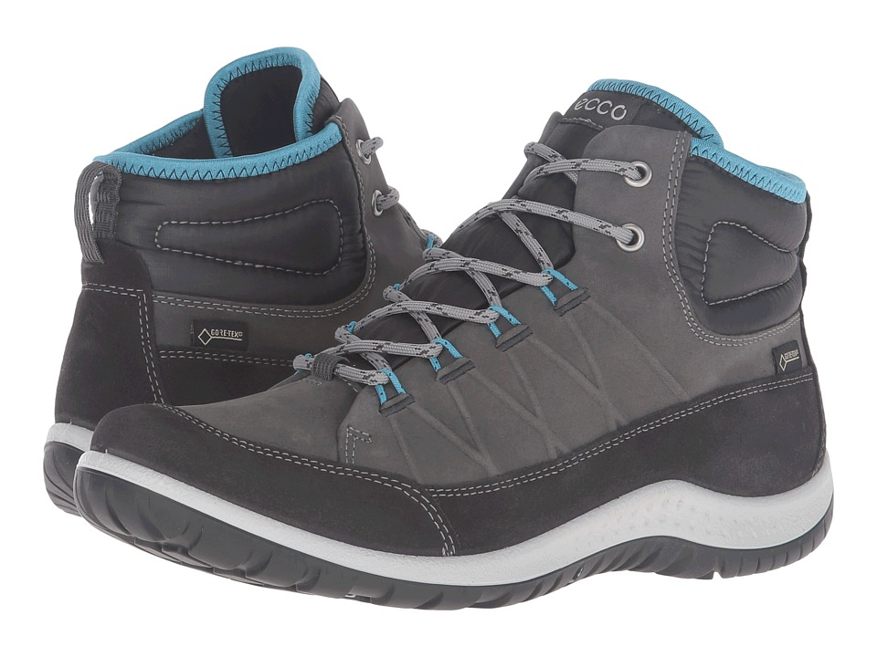 ECCO Sport - Aspina GTX High (Moonless/Dark Shadow) Womens Walking Shoes