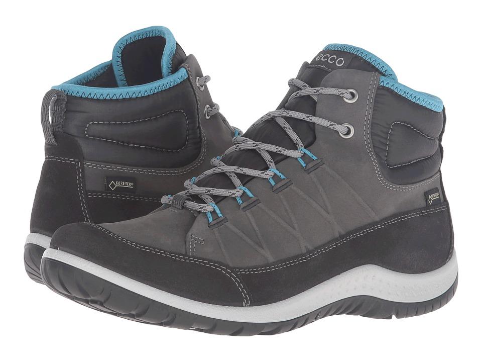 ECCO Sport Aspina GTX High (Moonless/Dark Shadow) Walking Shoes