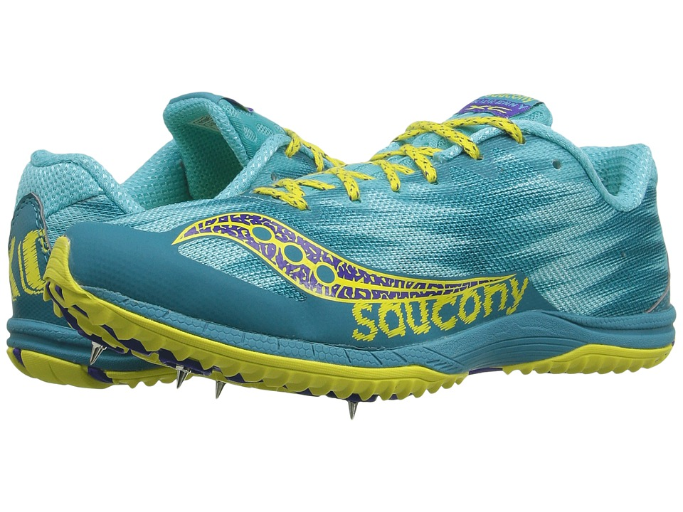Saucony Kilkenny XC Spike (Teal/Yellow) Women's Shoes
